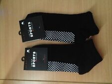 2 X Pairs Pilates Yoga Non Slip Grip Cotton Socks Size 6-11