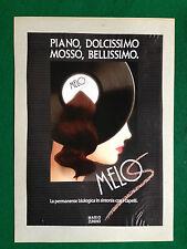 (PCA69) Pubblicità Advertising Ads Werbung MARIO ZUNINO MELOS PERMANENTE