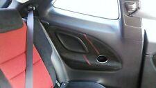 Rojo Stitch Honda a Civic Type R 06-11 2x Panel Trasero De Recorte De Gamuza sólo cubre