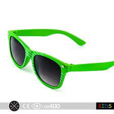 Slime Green Children True Vintage Retro Hip Child Kids Sunglasses Free Case K001