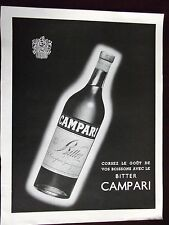 1953 Bitter Campari liqueur Original Black & White Advertisement
