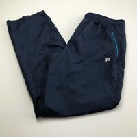 Russell Men's Activewear Pants Large L 36 38 Blue Elastic Waist Drawstring Gym