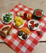 Miniature Dollhouse Picnic Scene Barbecue Clay Food Dollhouse Accessory
