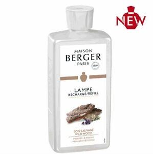 Lampe Berger Botella Fragancia 500ML Bois Sauvage Difusor Carga