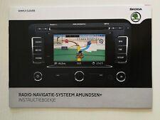 Instruktieboekje Skoda Radio Navigatie Systeem Amundsen + 05.11 Dutch //1093