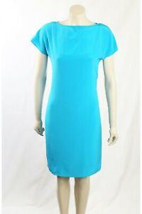 NEW Ralph Lauren - Size 6 - Blue Silk Dress-RRP:$249.00
