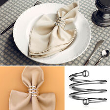 Elegant Napkin Ring Serviette Holder Wedding Banquet-Dinner Decor Favor New