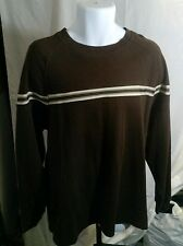 BANANA JACK MEN'S BROWN LONG SLEEVE SHIRT SIZE L. Heavyweight Cotton