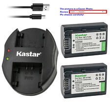 Kastar Battery Dual Charger for Sony NP-FV30 & Sony DCR-SX15 DCR-SX20 DCR-SX21
