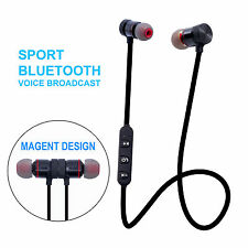 Bluetooth Kopfhörer Sport Stereo Wireless In-Ear Headset mit Mikrofon mit Magnet