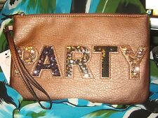 JUICY COUTURE $39 NWT PARTY copper women's purse wristlet travel fun gift