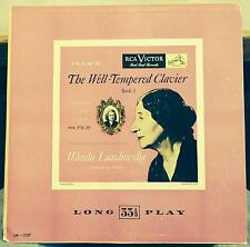 WANDA LANDOWSKA bach well tempered clavier book 1 LP VG+ LM-1107 Mono US 1s 1952