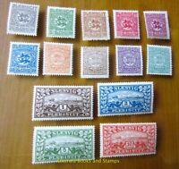 EBS Germany 1920 - Sleswig Plebiscite - Schleswig Abstimmung - Michel 1-14 MNH**