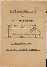 FDGB-Pokal Halbfinale 81/82 BSG Lok RAW Cottbus - Turbine Spremberg, 19.05.1982