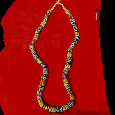 Venetian Glass African Trade Beads Necklace 32 inches long  Wound Beads