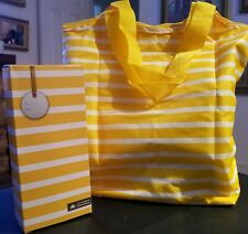 California Innovations Insulated Market Tote Bag Yellow Stripe Shopping Travel