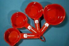 5 Piece Red Plastic Betty Crocker Liquid Measuring Cups - Pre-owned