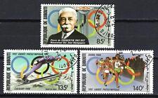 JO été Djibouti (32) série complète de 3 timbres oblitérés
