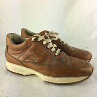 HOGAN INTERACTIVE BROWN LEATHER SHOES MADE IN ITALY SIZE 9.5