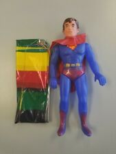"Superman Vtg Plastic Toy Figure with Parachute 11"" Blow Mold 1970s to 1980s"