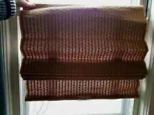 "Pair of 2 LEVOLOR BLIND Brown Woven Grass Fabric Cordless Window SHADE 25.5""x54"""