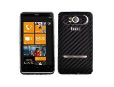 Skinomi Black Carbon Fiber Full Body + Screen Protector for HTC HD7