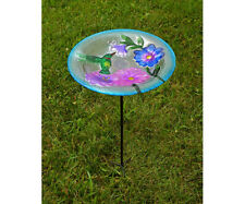 Bird Baths Hummingbird Glass Staked Bird Bath Se5002