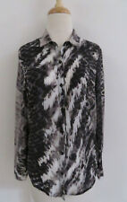 THE KOOPLES abstract Snake Print Button up shirt XS cotton silk