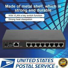 9-Port 10/100/1000Mbps Fast LAN Ethernet Network Switch HUB Desktop Mini Adapter