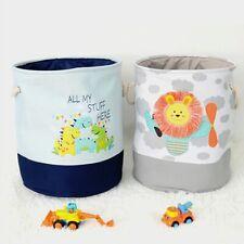 Cute Dinosaur Baby Laundry Basket Foldable Toy Storage Bucket Organizer Supply