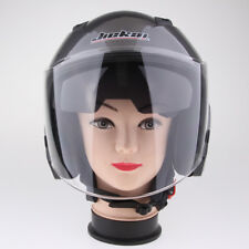 Dual Visors Motorcycle Bike 3/4 Jet Open Face Helmet Full Shield Grey XXL