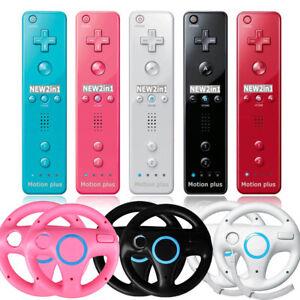 For Nintendo Racing Steering Wheel Wii Wiimote Built in Motion Plus Controller