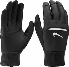 Nike Men's Shield Running Gloves Black With Touchscreen compatible  M, L, XL