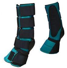 Teal Adjustable Neoprene Combination Bell Boot! New Horse Tack!