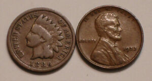 1886 Indian Head Cent & 1932 P Lincoln Cent