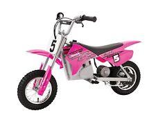 Razor Ride On Electric Motocross Dirt Bike Battery Powered Single Speed 24V Pink