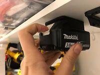 10x BATTERY MOUNTS for MAKITA 18v Storage Shelf Rack Stand Holder Slots Van Case