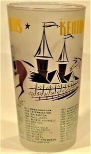 3 TAILS, 1 STAR RARE 1956 KENTUCKY DERBY GLASS - DECENT CONDITION, BUT NOT MINT