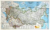 ⫸ 1990-3 Soviet Union  – National Geographic Map Poster School