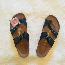 Birkenstock Mayari Black Leather Side Buckle Sandals Women's Size 41