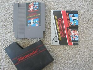 SUPER MARIO BROS./DUCK HUNT AUTHENTIC W/ MANUAL NINTENDO NES GAME CLEANED TESTED