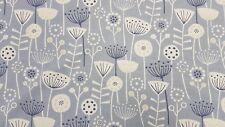 Fryetts Scandi Bergen Blue Curtain Upholstery Craft Designer Cotton Fabric