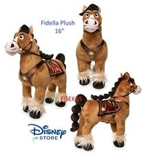 "Disney Store Tangled: The Series Fidella Horse 16"" Med Cassandra's Plush Toy NEW"