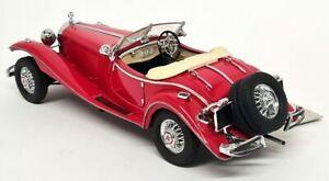 Franklin Mint 1/24 Scale Model Car Red 1935 Mercedes 500K Special Roadster VGC