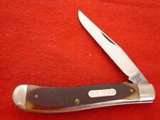 "Schrade USA 4"" Gunstock trapper 194ot Lock Blade Linerlock knife MINT"