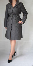 Woolen Knee Length Spotted Coats & Jackets for Women