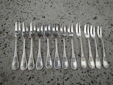CHRISTOFLE MODEL TRIANON SNAIL FORK 12 PIECES RARE 5.51 INCHES