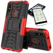 For Xiaomi Mi A2 /Mi 6X Hybrid Case Outdoor 2 Pieces Red Case + 0,26 H9 Glass