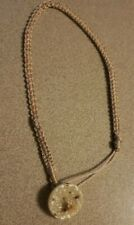 Handmade Micro macramé Choker Necklace 12.5inches Tan  OOAK jewelry