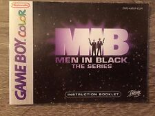 Manuale d'istruzioni Gioco MIB Men in Black The Series Game Boy Color Nintendo